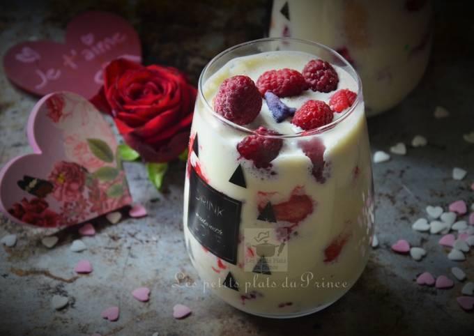 Tiramisu aux fruits rouges et violette pour St Valentin