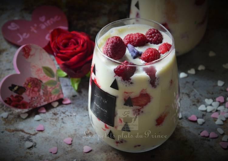 La Meilleur Recette De Tiramisu aux fruits rouges et violette pour St Valentin