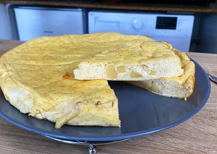 Gâteau de fromage blanc aux pommes (light)