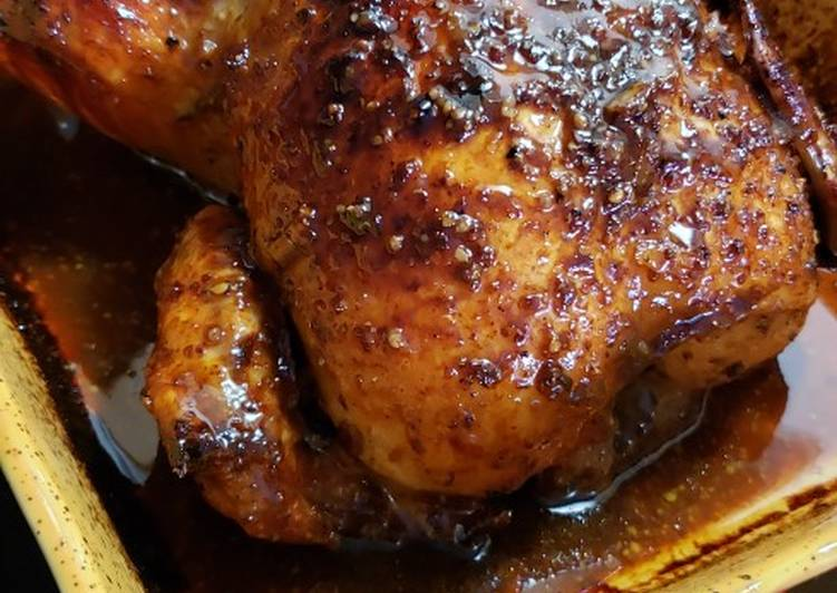 Orange Glazed Whole Chicken