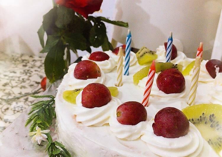 Resep: Berselera Birthday Cake & Fruit