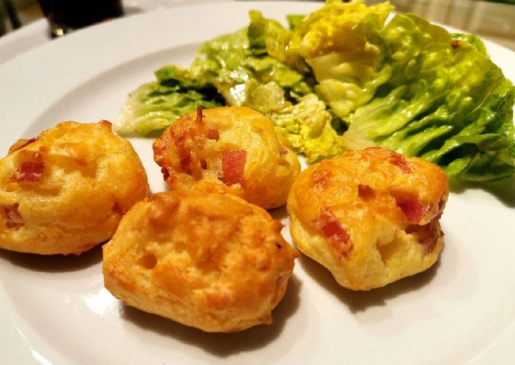 🍽️ Gougères jambon fromage !! 🧀🥩