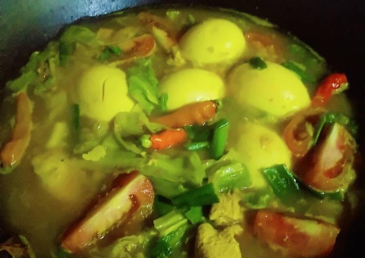 Tongseng telur dan ayam (tnpa minyak dan tnpa santan)