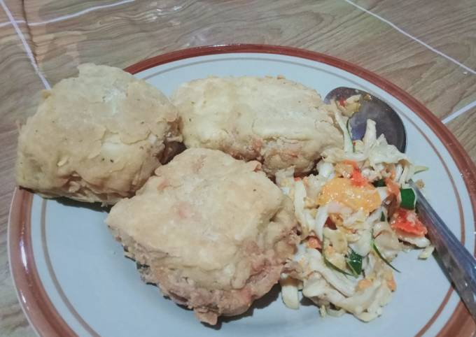 Cara Gampang Membuat Tahu Crispy isi jamur tiram sambel bawang pedas yang Enak