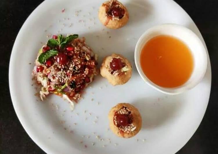 Tabhaleho salad Pani Puri