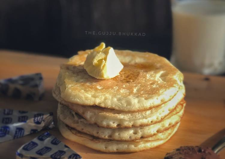 Recipe of Super Quick Homemade Fluffy pancakes
