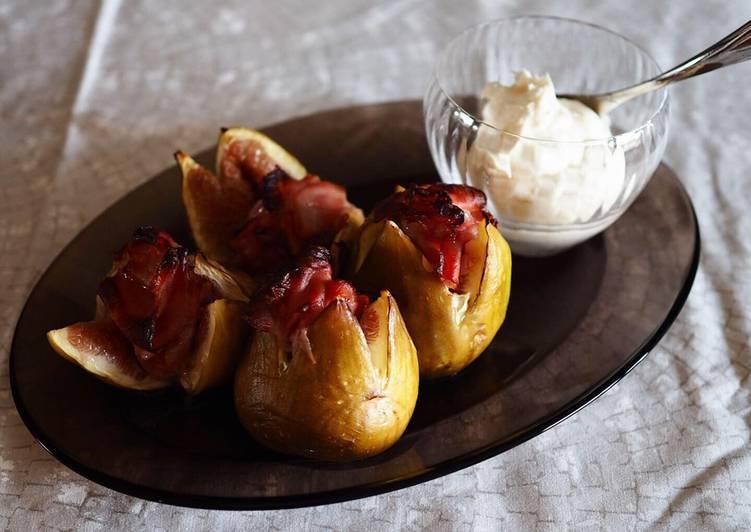 Figs and raw ham roast