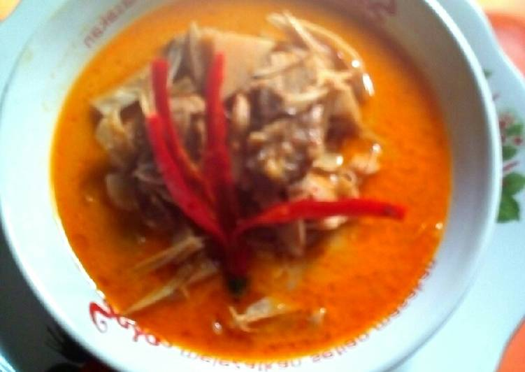 Gulai daging jo nangka