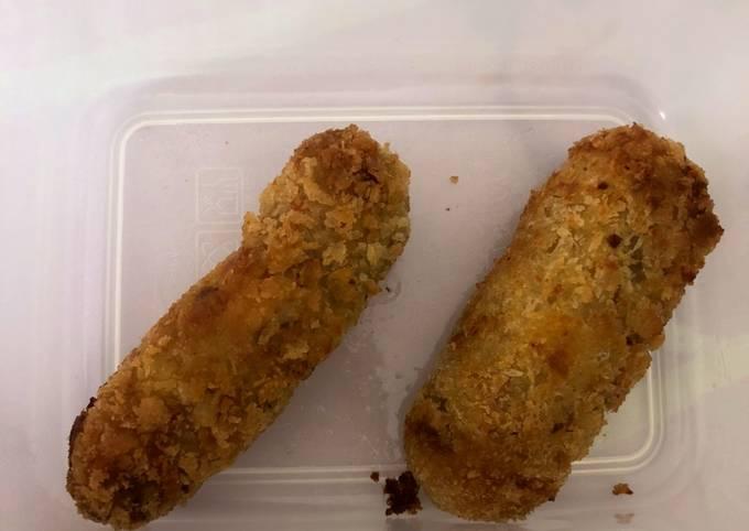 Resep MPASI Finger Food Stick Kentang Daging Keju, Enak