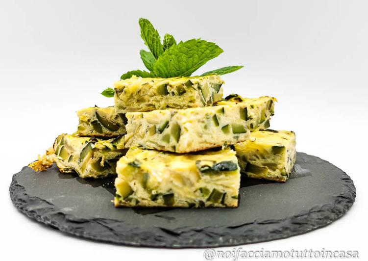 Ricetta Frittata di Zucchine e Cipolle al profumo di Menta
