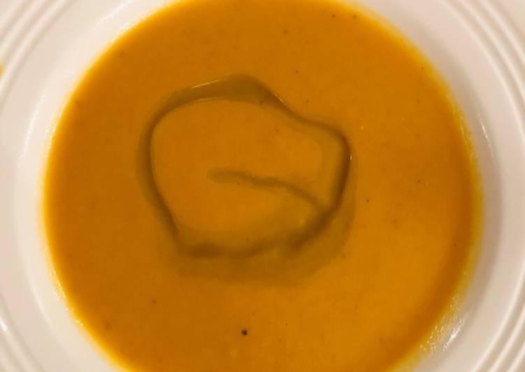 Steps to Prepare Homemade Sweet potato soup