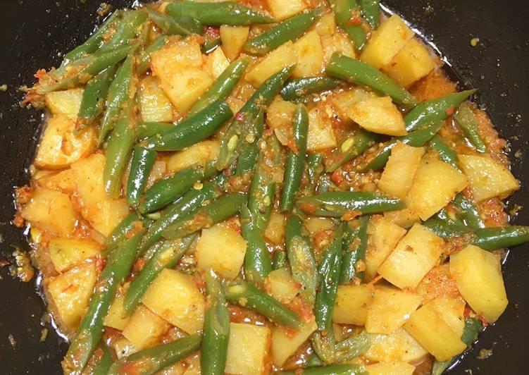 Tumis buncis kentang cheeccck