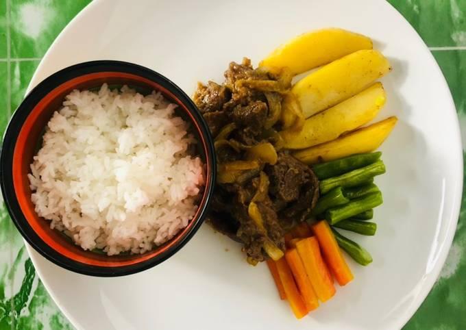 Beef Yakiniku dan Vegetables Pan Fried Favorite Keluarga - projectfootsteps.org