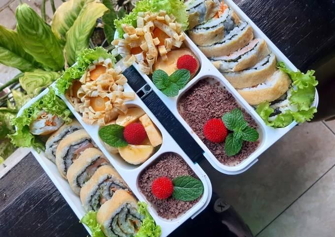 Sushi wortel dan timun bekal buat anakq