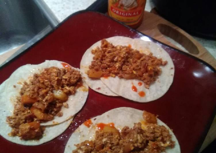 Simple Way to Prepare Homemade Chorizo breakfast tacos