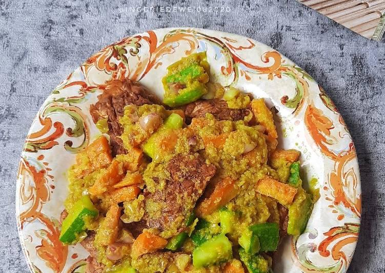 Tempe Acar Kuning - cookandrecipe.com