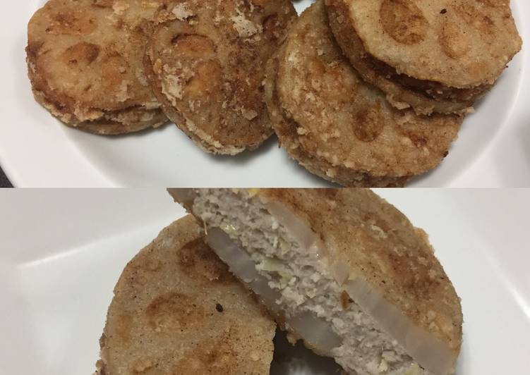 5 Minute Step-by-Step Guide to Prepare Spring Fried Lotus Root with Filling
