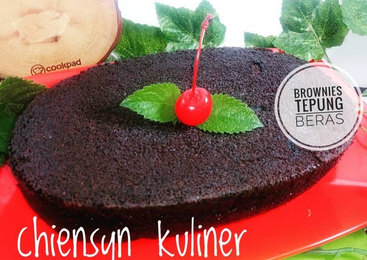 Brownies Tepung Beras - cookandrecipe.com