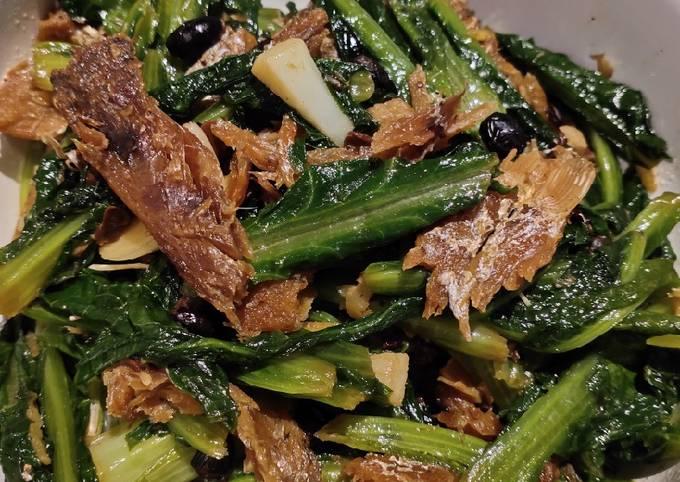 Indian Lettuce in Black Bean Fish