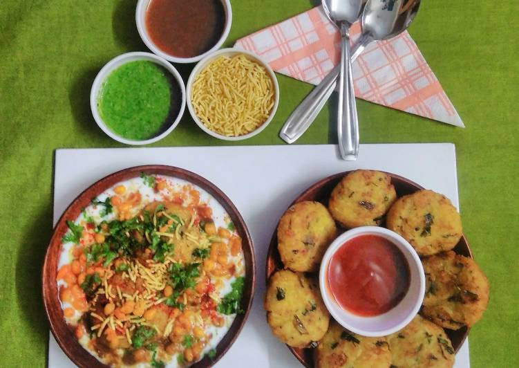 15 Minute Easiest Way to Prepare Refreshing Rice tikki chat (leftover from rice and sukhi aloo bhaji)
