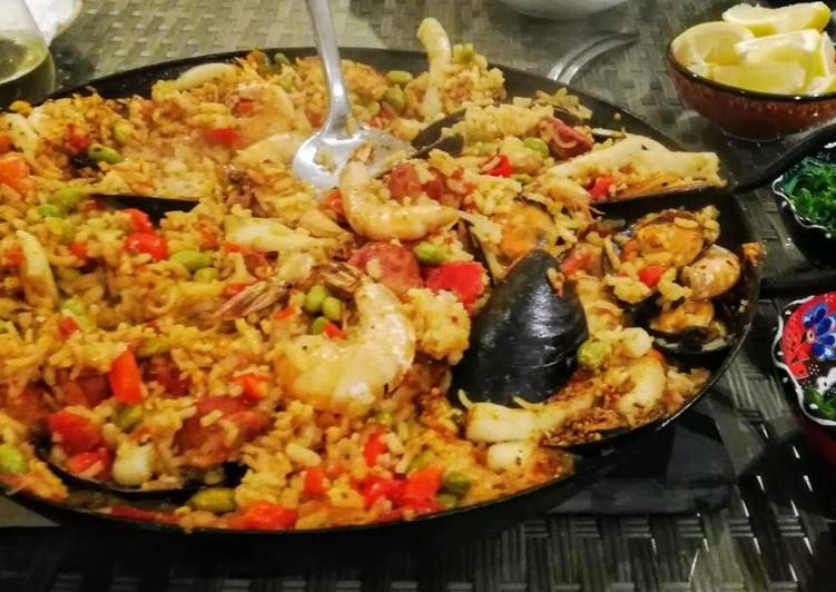 Recipe of Super Quick Homemade Seafood Paella