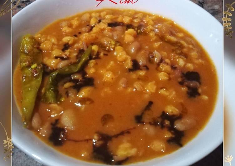 Grandmother's Dinner Easy Speedy Vegetarian Curried Samp