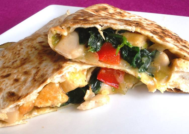 The Foods You Choose To Eat Are Going To Effect Your Health Chicken, Spinach And Cannellini Bean Quesadillas