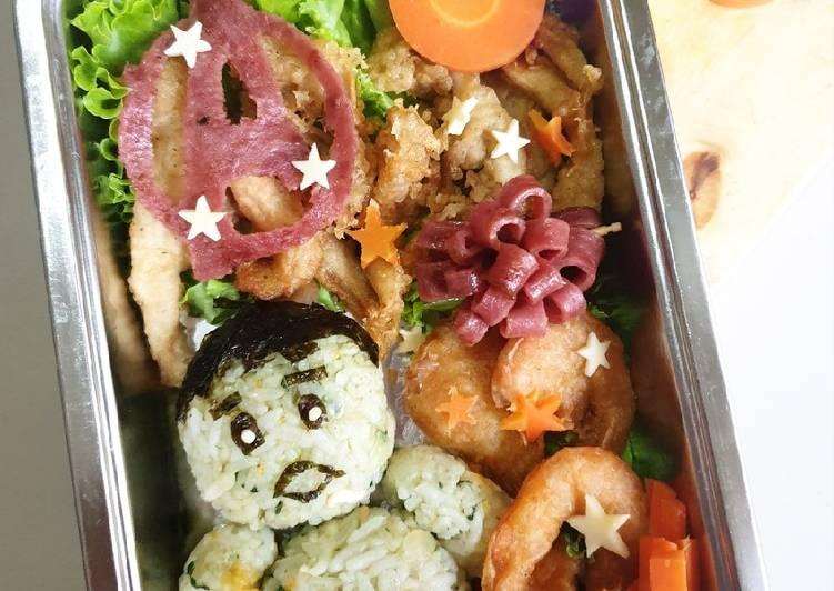 Nasi goreng hijau (bekal/bento anak)