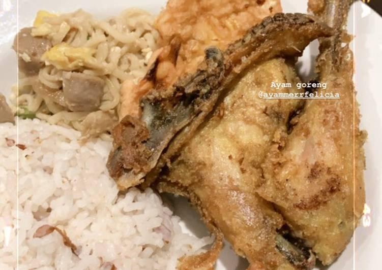 Nasi uduk rice cooker super simple