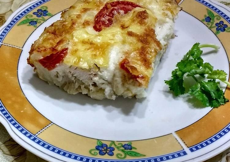 Coliflor Gratinada Con Pollo Y Salsa Blanca Receta De Bebe