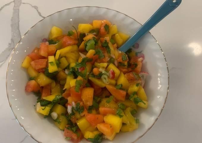 Mango Papaya Fruit Salsa