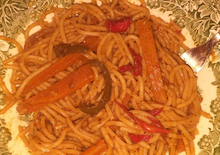 Recipe: Delicious Best vegan spaghetti