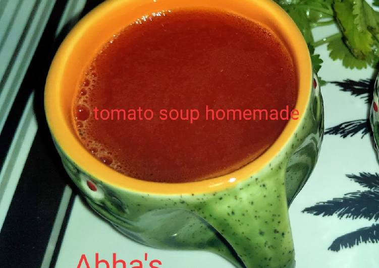 Homemade beetroot and tomato soup