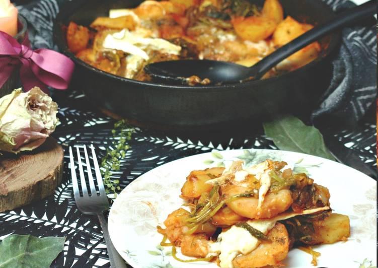 recette Pomme de terre et fanes de radis délicieux