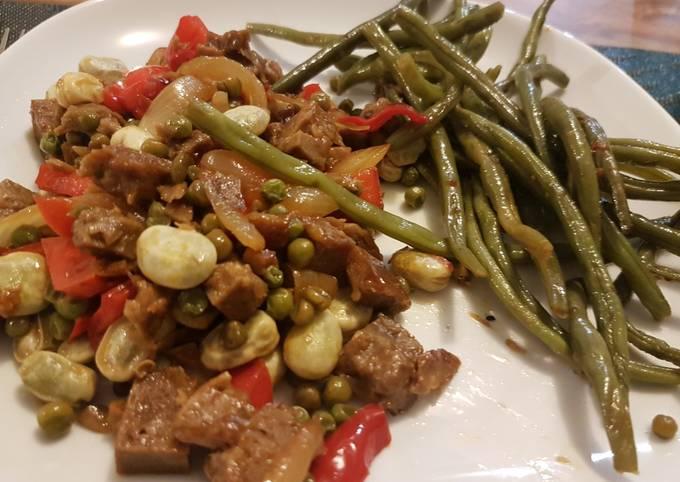 Seitan aux légumes