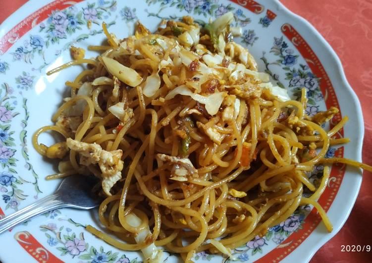 Mie Jawa spaghetti