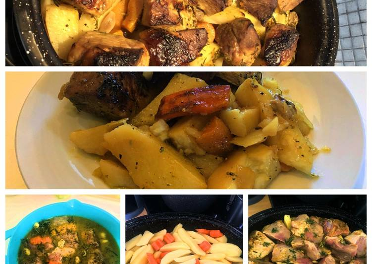 Spring pork in the oven pot with citrus - Laurie G Edwards