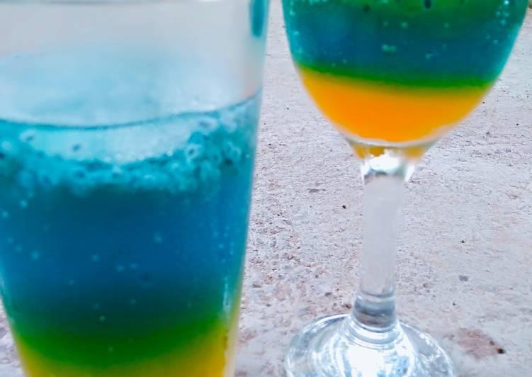 Resep Blue ocean drink oleh Bunda Dewi💞 - Cookpad