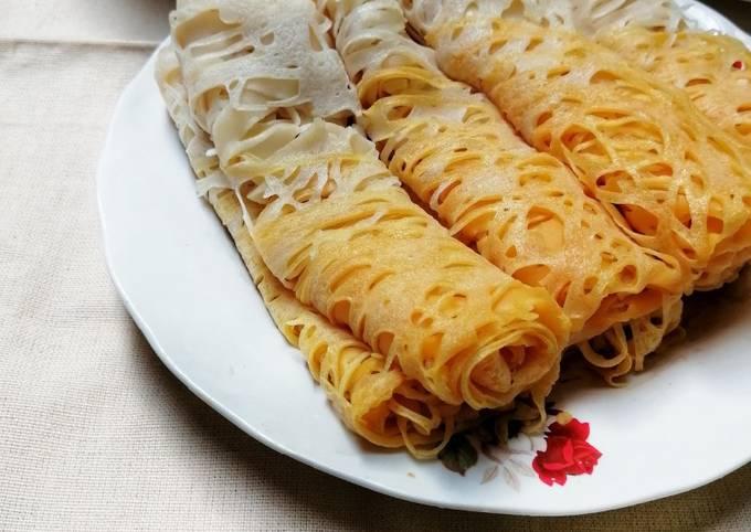 Resep Roti Jala Dwiwarna, Bikin Ngiler
