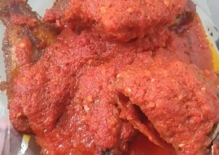 Ikan nila sambal balado kencur