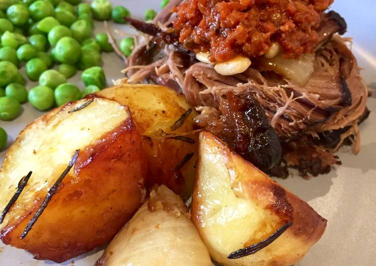 Amazing Slow Roasted Beef Brisket with a Sun Dried Tomato Tapenade