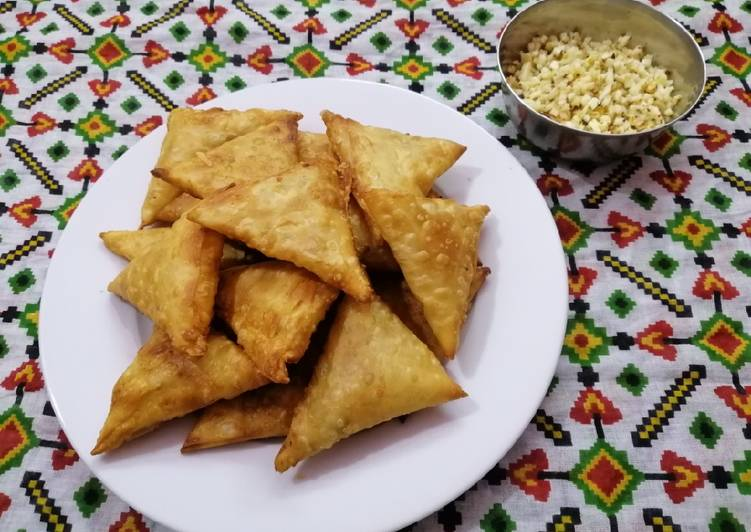 Steps to Make Super Quick Homemade Cheese Loaded Samosas