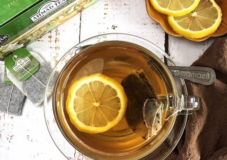 Hot Green Tea with Lemon - resepipouler.com