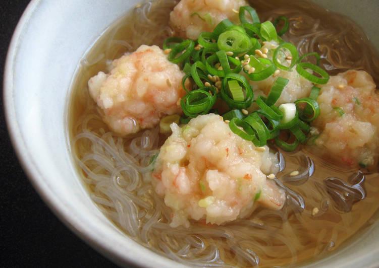 Prawn Balls & 'Harusame' Soup