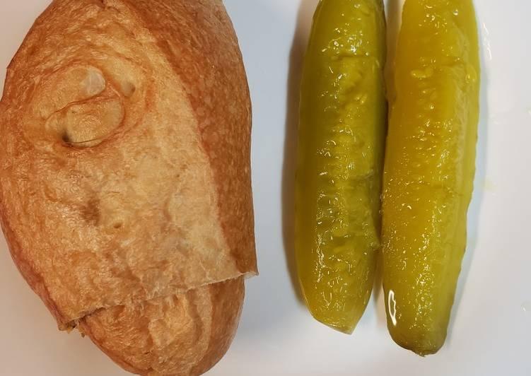 Cheeseburger stuffed Bolillo roll