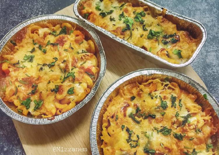 Cara Mudah Masak: Baked Seafood Macaroni Cheese Simple