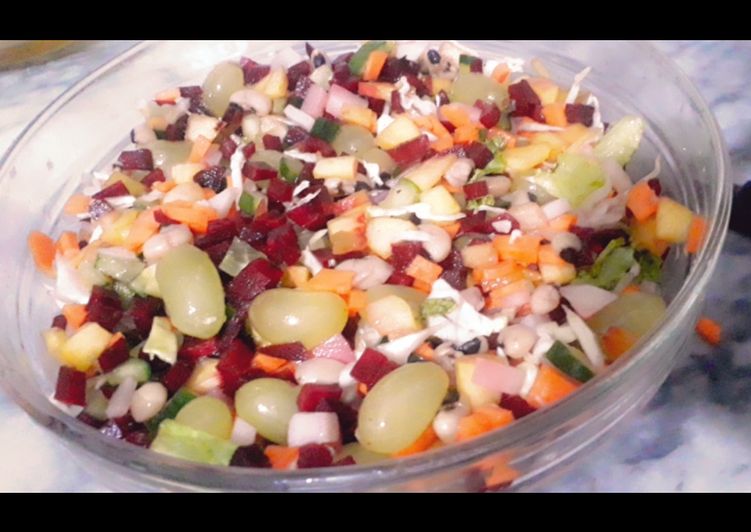 How to Prepare Homemade Kachumbar fruit salad