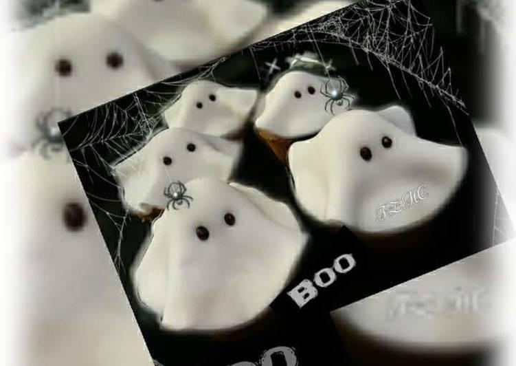 Recipe of Favorite 👻🎃🕸Baby Ghost Cupcakes🕸🎃👻