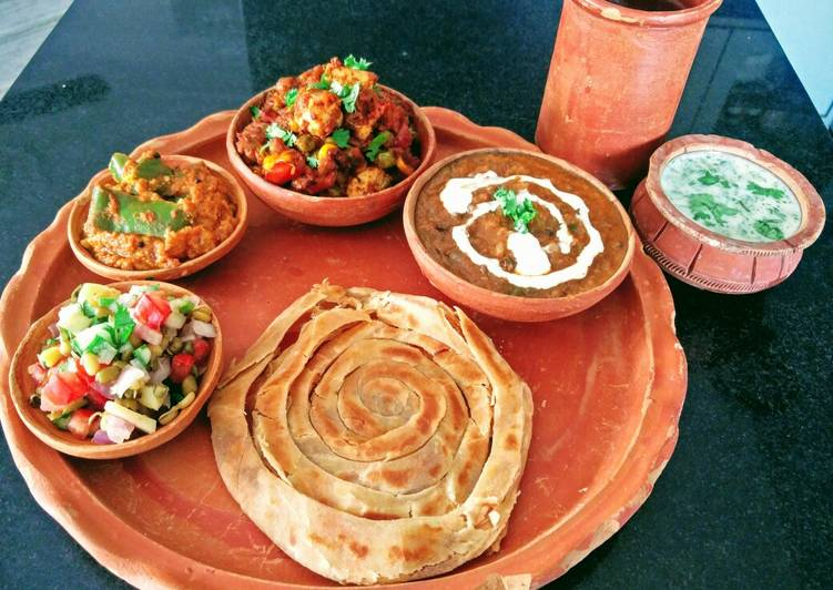 Simple Way to Make Award-winning Desi Lunch Thali