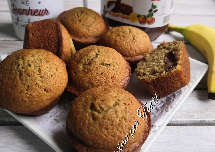 Muffins Nutella bananes